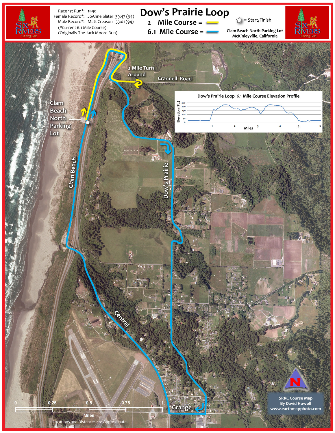 Click for the course map Six Rivers
